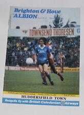 Brighton & Hove Albion -v- Huddersfield Town 1981-1982