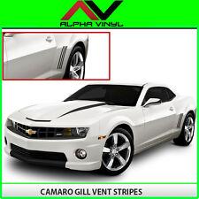 Chevrolet Camaro Gill Vent Insert Stripes 2010 2011 2012 2013 Decals Matte Black