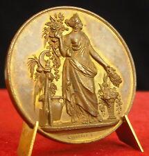 Médaille Société Horticole Vigneronne par Pingret Medal 铜牌 Vigneron Vin Wine