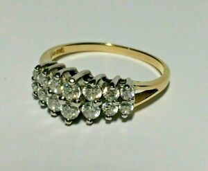 14 CT GOLD 0.66.CT DIAMONIQUE LADIES ENGAGEMENT RING,  SIZE O&1/2,  3.22.GRAMS,