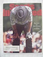 CHRIS EVERT signed 1996 GREG NORMAN Sports Illustrated tennis golf magazine AUTO