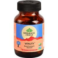 Organic India Vitality 60 Capsules Energy & Stamina Herbal Free Shipping