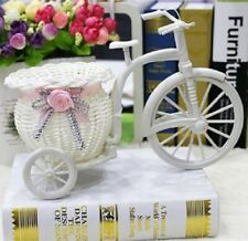 Handmade Flower Vase Rattan Bicycle Bike Flower Basket Home Garden Pot Container