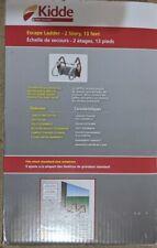 Fire Escape Ladder 2 Story Emercency Safety 13 Foot Window Anti-slip Rungs Kidde