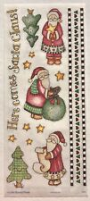 HERE COMES SANTA CLAUS BO-BUNNY PRESS 5X12 IN. SHEET STICKERS CHRISTMAS TREE BAG