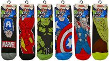 6 PAIRS of Mens Adults Genuine MARVEL AVENGERS Character Socks Novelty  6-11