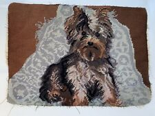 Cairn Terrier Puppy Dog Needlepoint Only 16�x12� Cute Rare