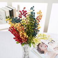 UK Artificial Fake Berry Silk Flower Leaf Artificial Flowers  Home Wedding Decor