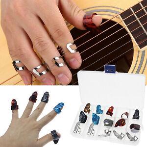15x Plettri per dito per pollice per chitarra Plettro colorato per unghie per