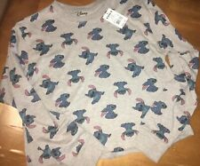 Disney Sz Medium Light Weight Lilo & Stitch Pullover Crew Neck Sweatshirt Kohl's
