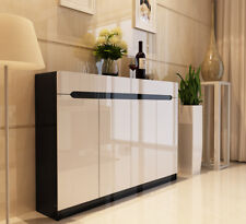 High Gloss Shoe Cabinet Black and White (1.0/1.2/1.4m)
