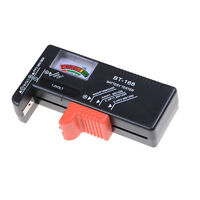 Universal Battery Tester Tool AA AAA C D 9V Button Checker Accessory E&F