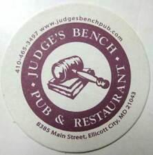 JUDGE'S BENCH PUB & RESTAURANT Beer COASTER, Mat, Ellicott City, MARYLAND 2011