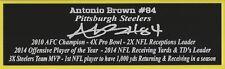 Antonio Brown Autograph Nameplate Pittsburgh Steelers Autograph Helmet Jersey
