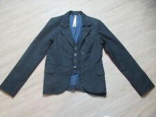 Frauen / Damen Kurzjacke - Blazer - Business Jacke in Schwarz  gestreift Gr. L