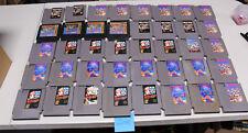 Lot of 40 Original Nintendo Nes Games RBI Baseball, Tetris, Dr Mario Super Mario
