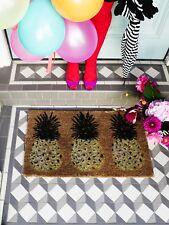 Bombay Duck 3 Pineapple Door Mat Contemporary Novelty Tropical Chic Natural Coir