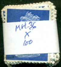 Great Britain Sg-X855 Scott # Mh-36 Machin, Used, 100 Stamps, Great Price!