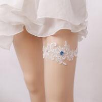 Universal Personalised Brides Wedding Garter Crystal Pearl Flower Beaded