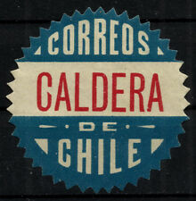 CHILE, OFFICIAL SEAL, CALDERA, SAWTOOTH, MNG