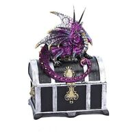 Reptilian Riches 15cm Nemesis Dragon Jewellery Trinket Box Ornament Gothic Gift