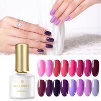 BORN PRETTY 6ml Pure Tips UV Gel Polish Reddish Purple Soak Off Nail Art Gel