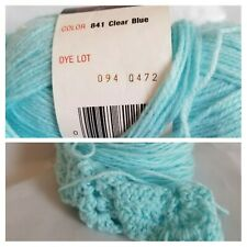 34 g Vintage Red Heart Yarn ☆FREE SHIP☆ 841 Clear Blue (2.96 Oz) Project Start