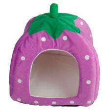 Soft Cotton Cute Strawberry Style Multi-purpose Pets Dog Cat HouseNest YurtSizeM