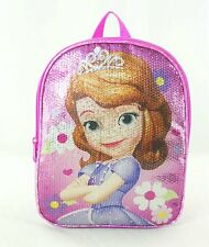 """Disney 10"""" Sequin Sofia The First Toddler Backpack"""