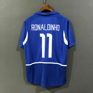 Brasil 2002 Away Ronaldinho 11 Retro Jersey Football Shirt 2002/ 11