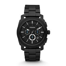 Fossil Watch FS4552 Machine Chronograph Black Stainless Steel Watch RRP$279