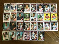 1988 BOSTON RED SOX Topps COMPLETE Baseball Team Set 30 Cards BOGGS CLEMENS RICE