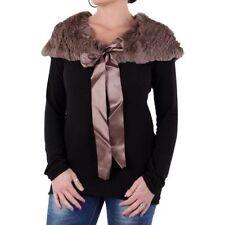 Sciarpe, foulard e scialli da donna marrone con pelliccia