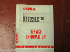 YAMAHA DT125LC SERVICE INFORMATION 1986 GOOD CONDITION