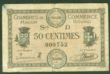 NECESSITE 50 CENTIMES CHAMBRE DE COMMERCE MACON BOURG ETAT: TB  lot 1049