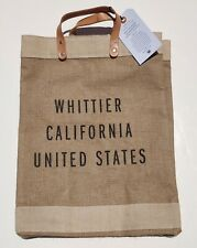 Apolis Global Citizen Market Bag Leather Handles Whittier California