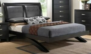 Crown Mark Bed 5 PC Brown Wood Finish Luxury ONLY
