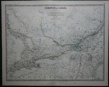 1887 grandes victorianas Mapa Dominio de Canadá Central Ontario Quebec Montreal
