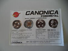 advertising Pubblicità 1981 RUOTE CANONICA FONDMETAL - ASTI