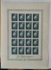 LIECHTENSTEIN: FEUILLE COMPLETE N°154 ANNEE 1939 JOSPEH RHEINBERGER COTE=50€ **