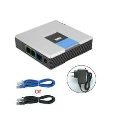 VOIP Gateway 2 Ports SIP Protocol Internet Phone Voice Adapter for Linksys PAP2T