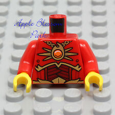 NEW Lego Chima RED MINIFIG TORSO -Dark Gold Fire Chi Chain Pendant Phoenix Armor