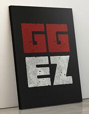 GiX Canvas Print GGEZ by Evgeniy Aduev 60x80 cm für Geeks Nerds Gamers WoW