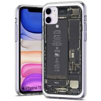 Thin Gel Phone Case For Apple iPhone 11,Phonebattery Assemble Smart phone Print