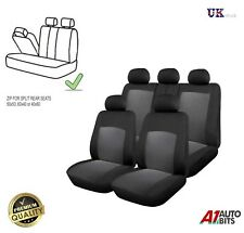 Skoda Fabia Octavia Roomster Yeti Full Split Seat Covers Set Protectors Grey