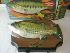 Big Mouth Billy Bass 1998 Singing Fish Head Turns Motion Activated With Box