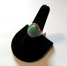 ~ Kingman Teal Turquoise Sterling Silver Ring Size 8 ~