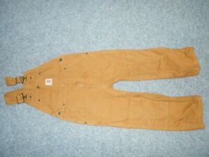 CARHARTT CLASSIC YOUTH BOYS SIZE 7 BROWN DENIM OVERALLS                       K3