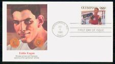Mayfairstamps US FDC 1990 Eddie Eagan Olympics First Day cover wwf42127
