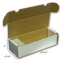 5 BCW 550 COUNT CT Corrugated Cardboard Storage Box - Sports/Trading/Game Cards